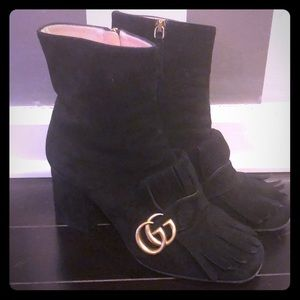 Gucci Suede ankle booties